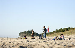 Family on beach Royalty Free Stock Photos