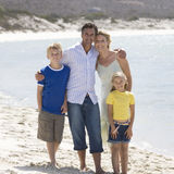 A family on a beach Royalty Free Stock Photography