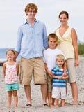 Family at beach stock photography