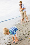 Family at beach. Family vacation at the beach Royalty Free Stock Images