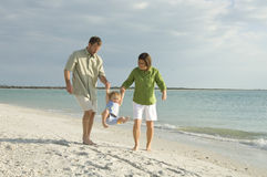 Family at beach royalty free stock image