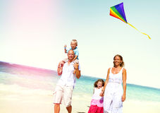Family Beach Enjoyment Holiday Summer Concept Stock Image
