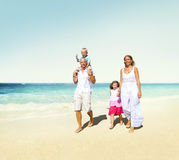 Family Beach Enjoyment Holiday Summer Concept Royalty Free Stock Photography