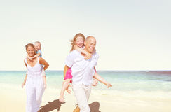 Family Beach Enjoyment Holiday Summer Concept Stock Photography