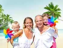 Family Beach Enjoyment Holiday Summer Concept Royalty Free Stock Photos