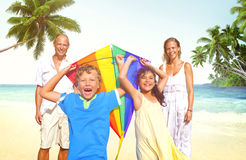Family Beach Enjoyment Holiday Summer Concept Royalty Free Stock Photo