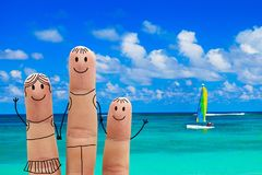 Family on the beach. Exotic vacation. Family  on a tropical beach.  Exotic vacation Stock Photos