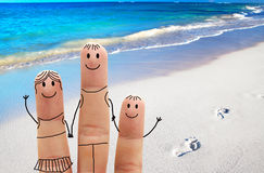 Family on the beach. Exotic vacation Royalty Free Stock Photos