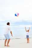 Family beach fun Stock Photo