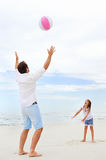Family beach fun Stock Image