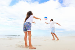 Family beach fun Royalty Free Stock Photography
