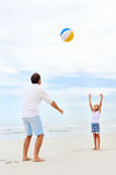 Family beach fun Stock Photography