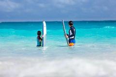Family beach fun Royalty Free Stock Photography
