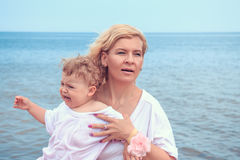 Family on the beach. Stock Images