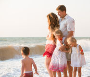 Family on the beach Royalty Free Stock Images