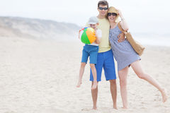 Family at the beach Royalty Free Stock Photos