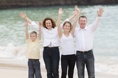 Family on a beach Stock Image