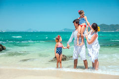 Family at the beach Stock Image