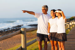 Family beach morning Royalty Free Stock Image
