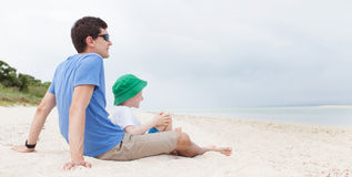 Family at the beach Royalty Free Stock Photography