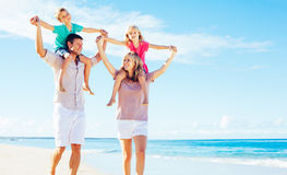 Family on the Beach Royalty Free Stock Photo