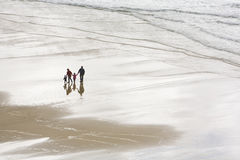 Family on Beach Stock Photography