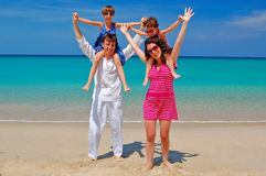Family beach summer vacation Stock Image