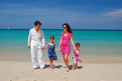 Family beach vacation Stock Image