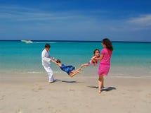Family beach vacation Stock Photos