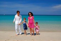 Family beach vacation Royalty Free Stock Photo