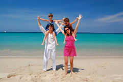 Family beach vacation Stock Photo