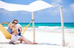 Family on beach vacation Royalty Free Stock Photo