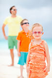 Family on beach vacation Royalty Free Stock Images