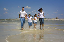 Family on beach vacation royalty free stock photography