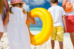 Family beach vacation Royalty Free Stock Images