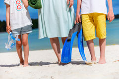 Family on beach vacation Royalty Free Stock Image