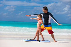 Family beach vacation Royalty Free Stock Photos