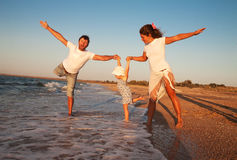 Family on beach vacation Stock Photography