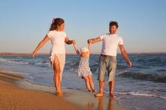 Family on beach vacation Stock Image