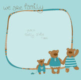 Family Bear Photo Frame Royalty Free Stock Photos
