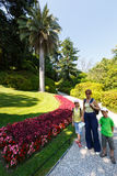 Family  in beautiful summer park. Stock Photography