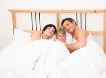 Family bed stock image