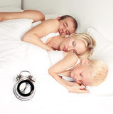 Family in bed Stock Photos