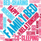 Family Bed Word Cloud. On a white background Stock Photography