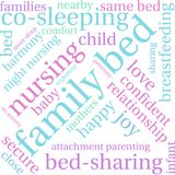 Family Bed Word Cloud. On a white background Stock Image
