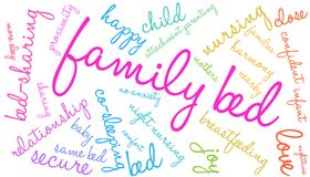Family Bed Word Cloud. On a white background Stock Photo