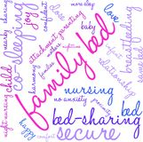 Family Bed Word Cloud. On a white background Stock Images