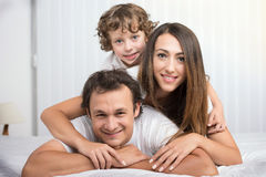 Family in the bedroom Royalty Free Stock Photography