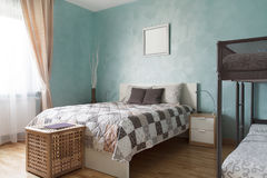 Family bedroom with two beds Royalty Free Stock Images