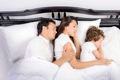 Family in the bedroom Stock Photography
